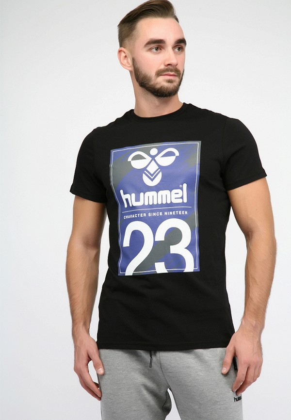 мужская футболка hummel, черная