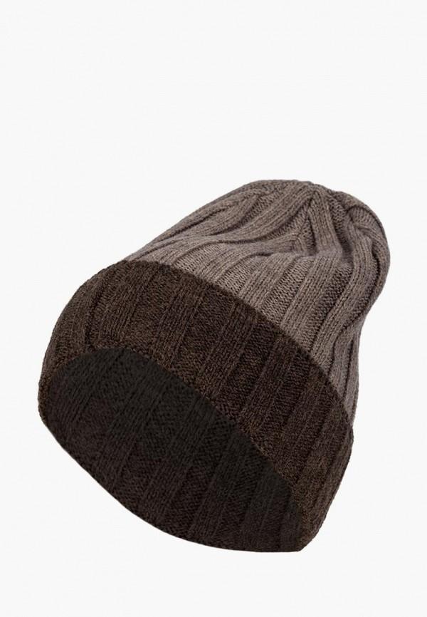 мужская шапка labbra, коричневая