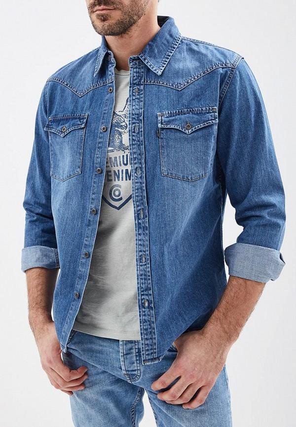 Рубашка джинсовая Dairos Dairos MP002XM241PS юбка dairos синий 44 45 размер