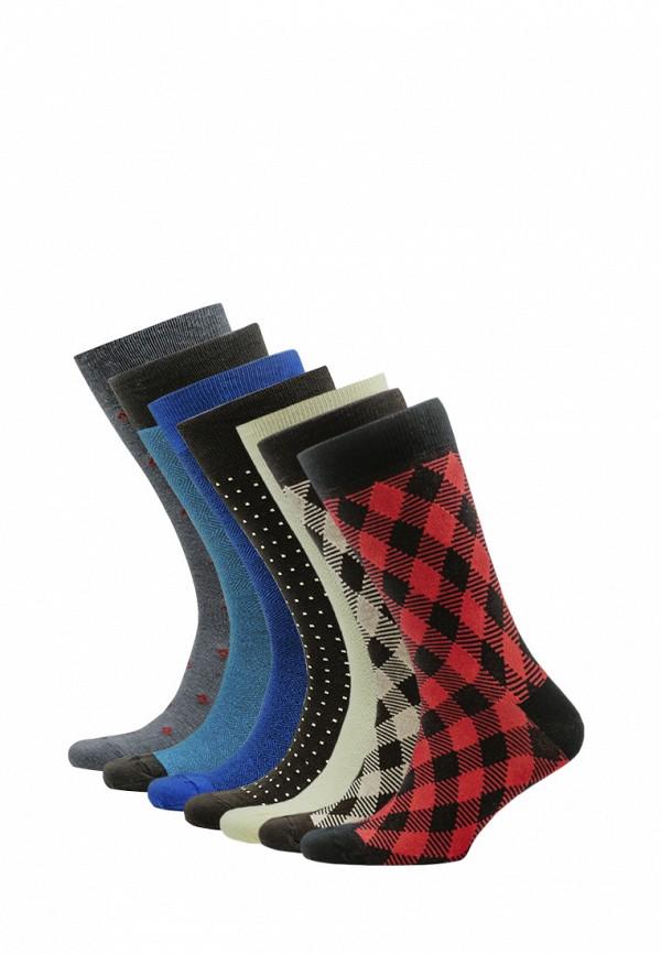 Носки  бежевый, бирюзовый, мультиколор, серый, синий, черный цвета