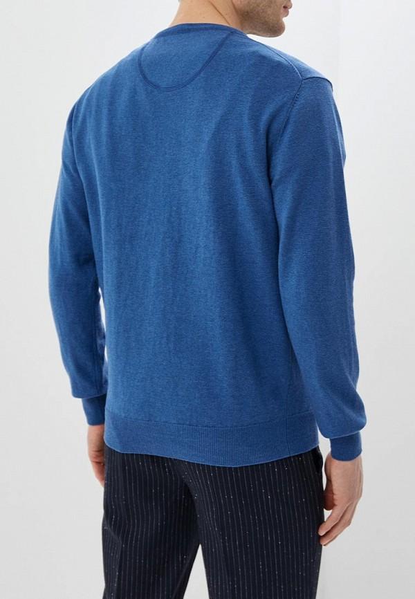 Фото 3 - Пуловер la Biali синего цвета