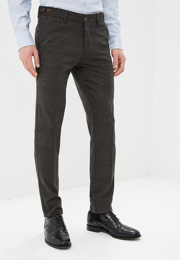 мужские классические брюки angelo bonetti, коричневые