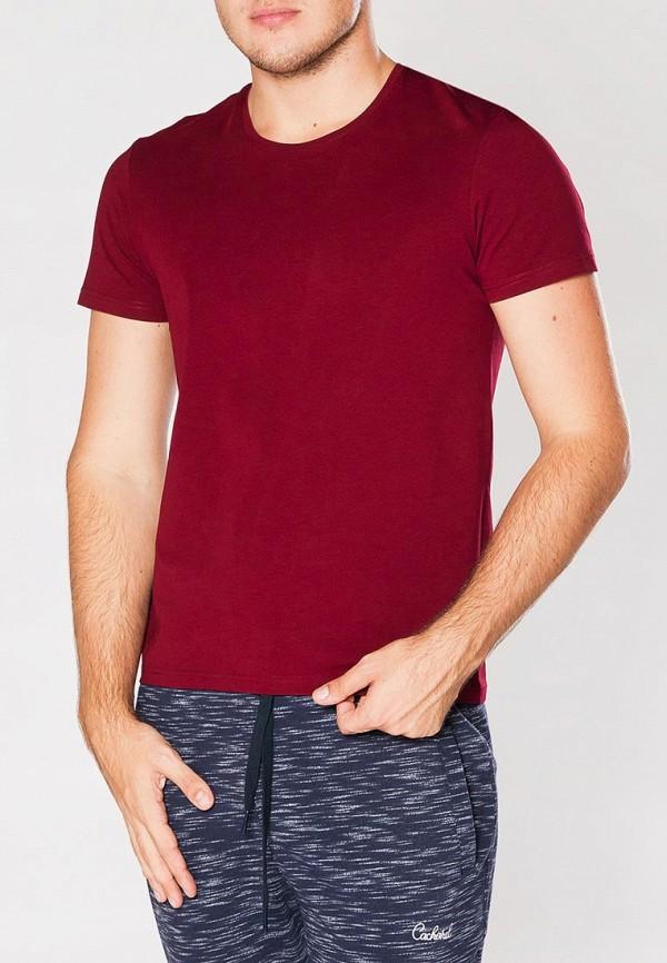 мужская футболка cacharel, бордовая