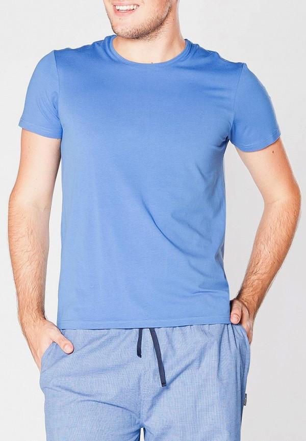 мужская футболка cacharel, голубая