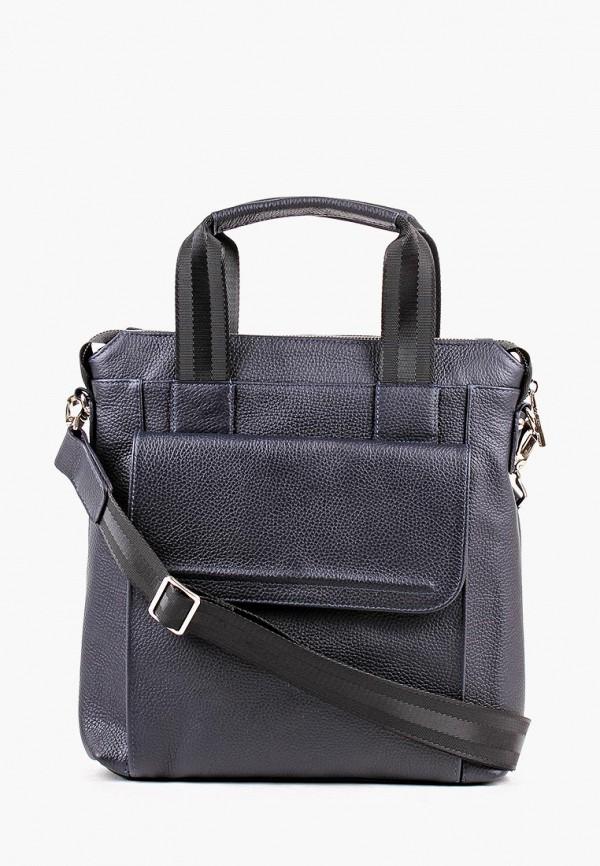 мужская сумка медведково, синяя