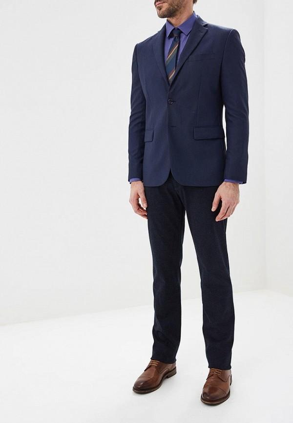 Фото 2 - Мужскую рубашку Paspartu синего цвета