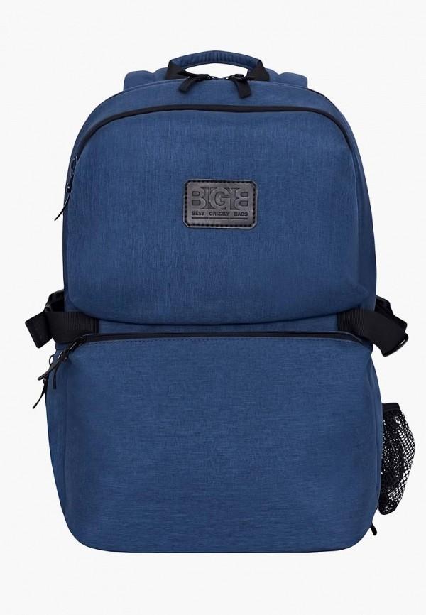 мужской рюкзак grizzly, синий