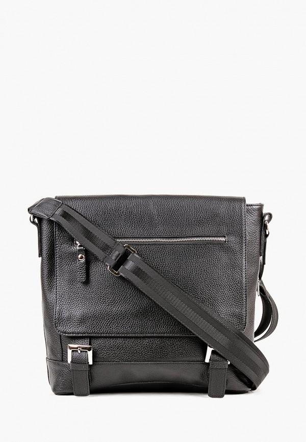мужская сумка медведково, черная