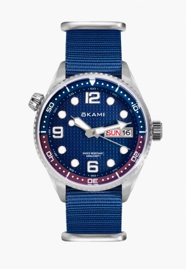 мужские часы okami, синие