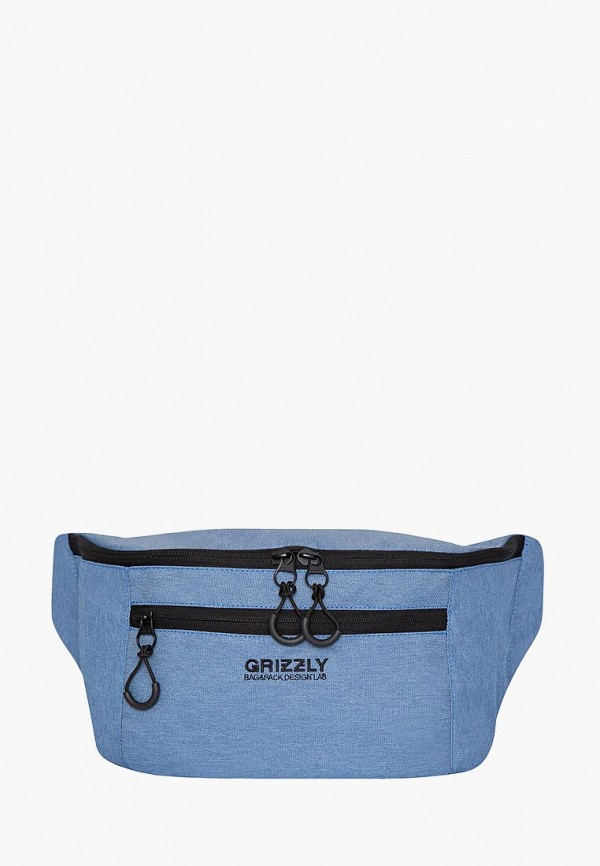 мужская сумка grizzly, голубая