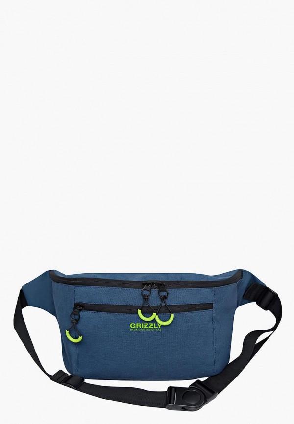 мужская сумка grizzly, синяя