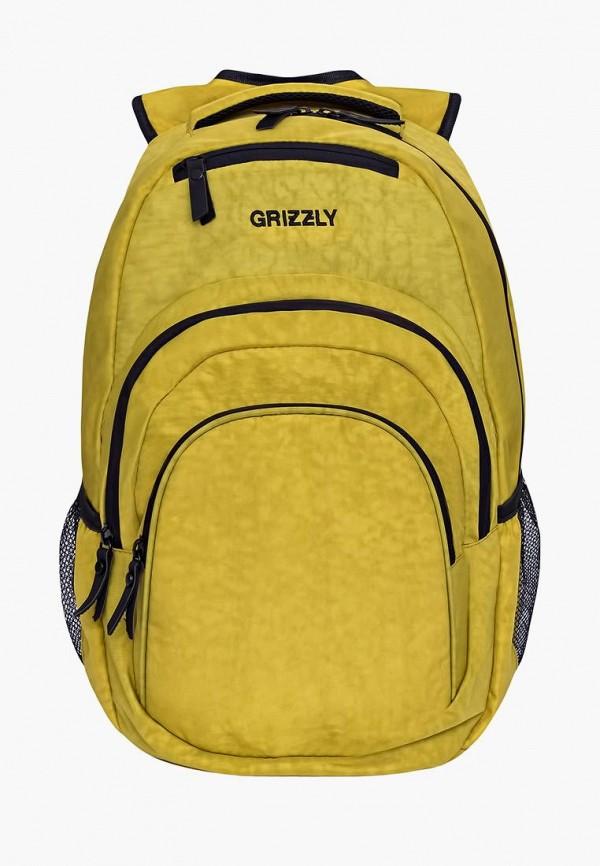 мужской рюкзак grizzly, желтый