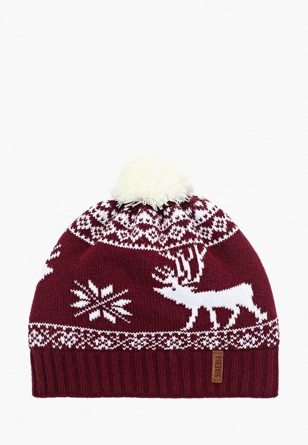 мужская шапка original siberia, бордовая