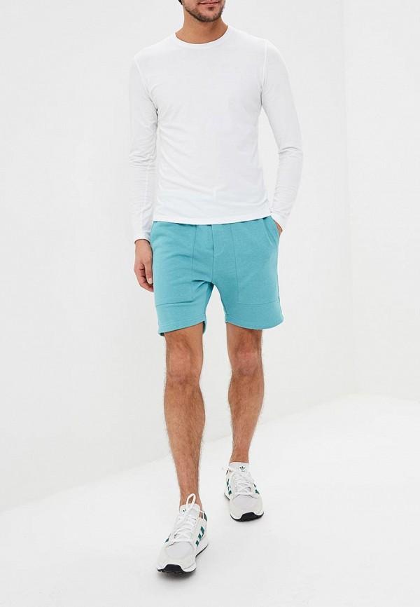 Фото 2 - Мужские шорты Brainwear бирюзового цвета