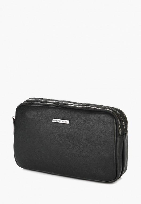 мужской кошелёк luxon, черный