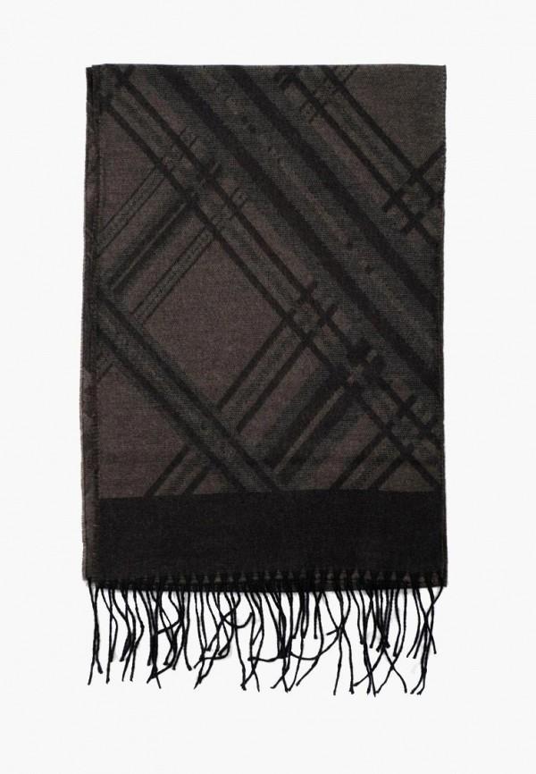 мужской шарф pierre lauren, коричневый