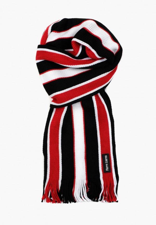 мужской шарф pierre lauren, красный