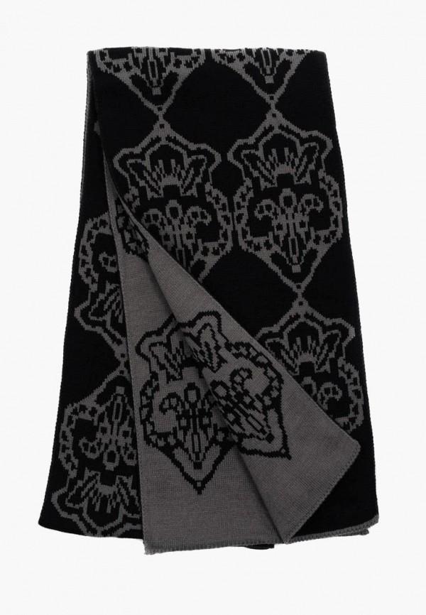 мужской шарф pierre lauren, черный