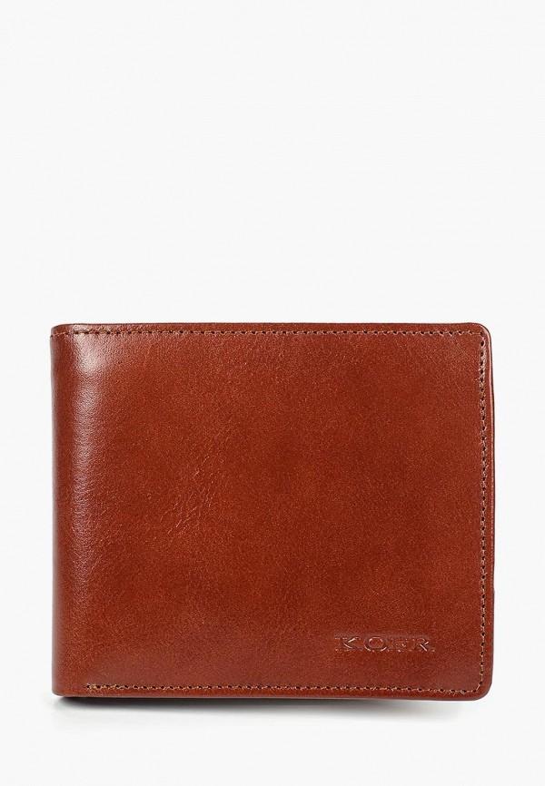 мужской кошелёк kofr, коричневый