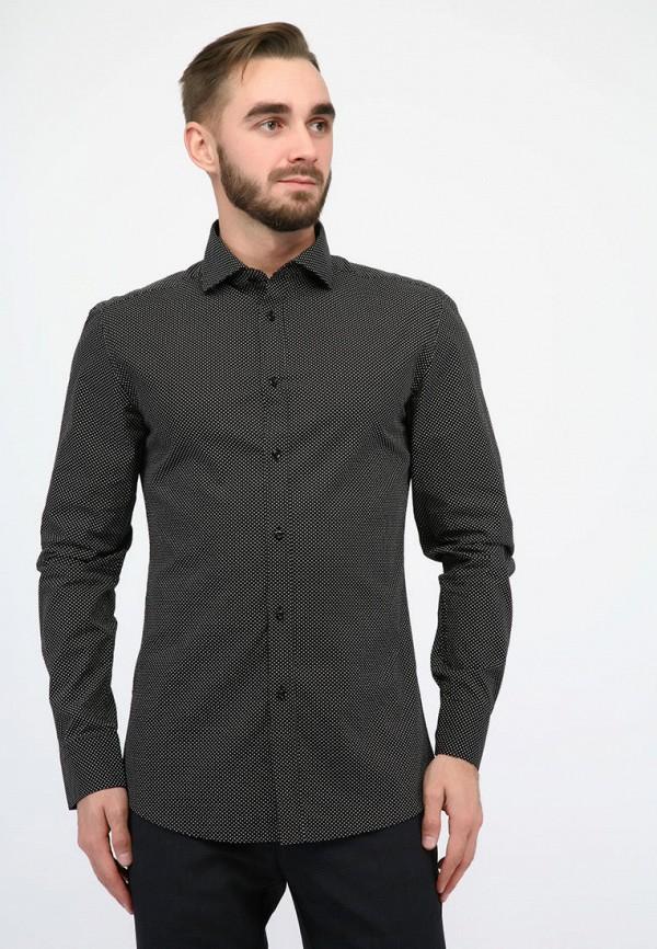 мужская рубашка с длинным рукавом pako lorente, черная