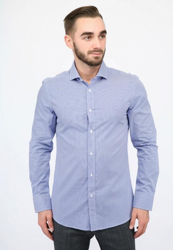 мужская рубашка с длинным рукавом pako lorente, голубая