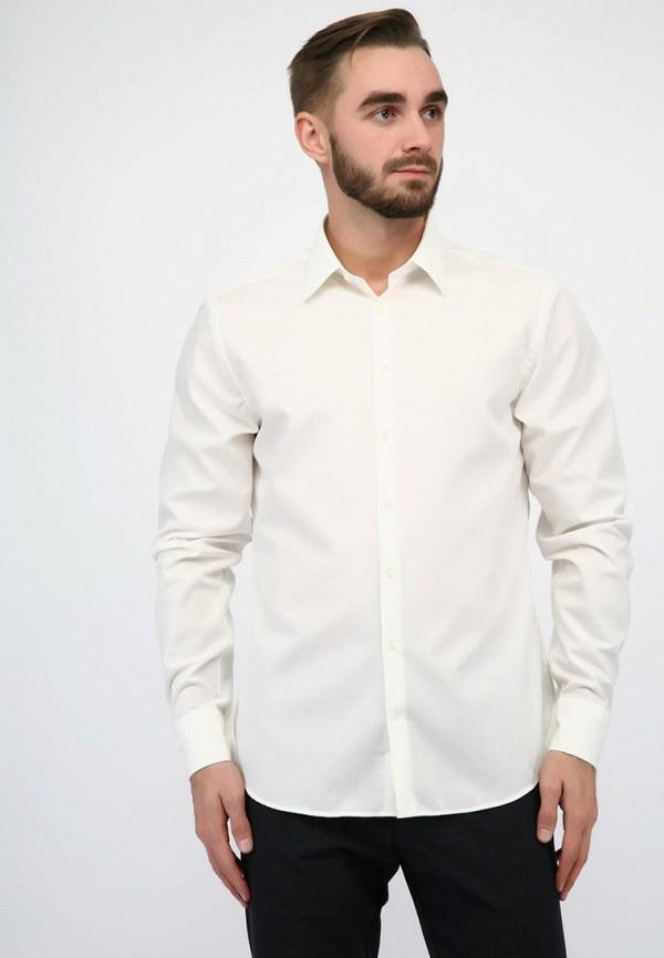 мужская рубашка с длинным рукавом pako lorente, бежевая