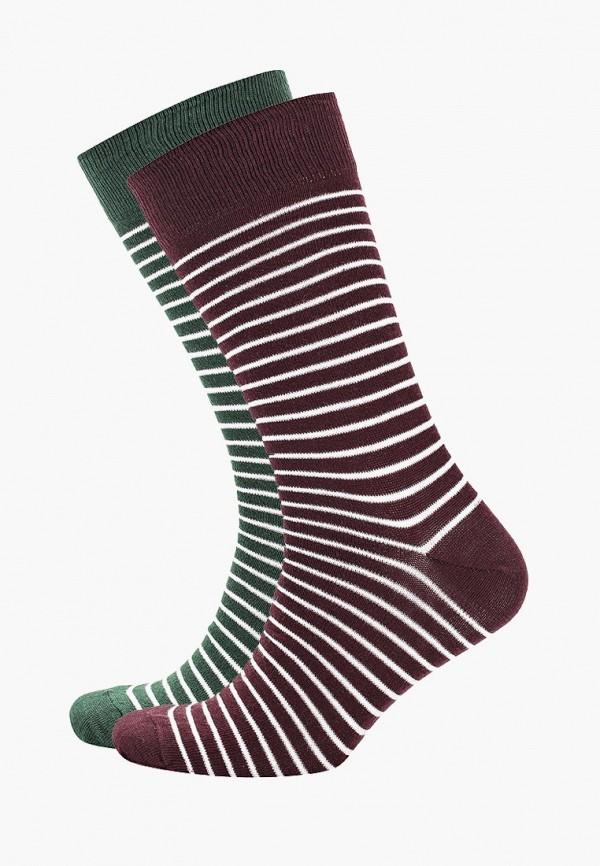 Носки  бордовый, зеленый цвета
