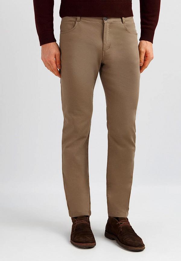 мужские зауженные брюки finn flare, коричневые