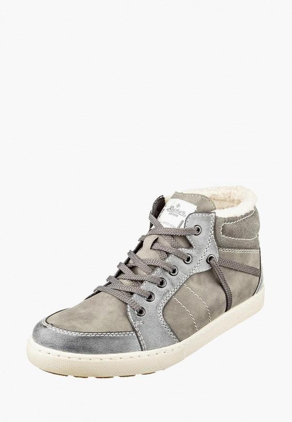 мужские ботинки rieker, серые