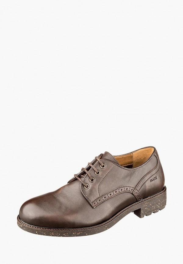 мужские туфли marc, коричневые