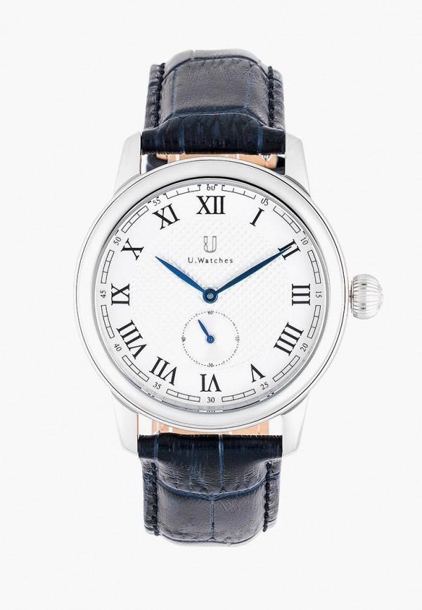 мужские часы u.watches, синие