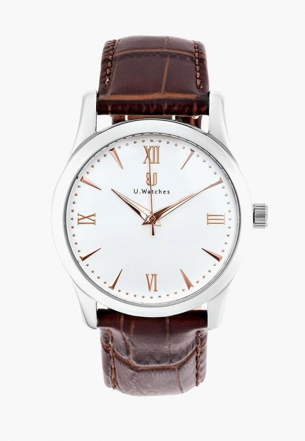 мужские часы u.watches, коричневые