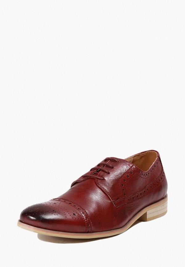 мужские туфли-дерби airbox, бордовые