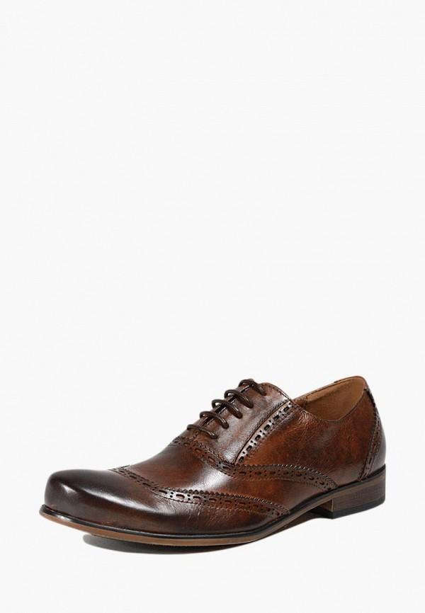 мужские туфли-оксфорды airbox, коричневые