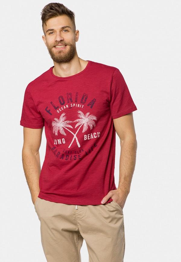 мужская футболка с коротким рукавом mr520, красная