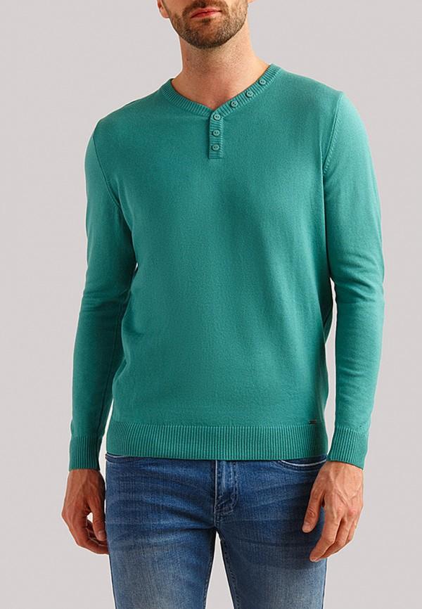 мужской пуловер finn flare, бирюзовый