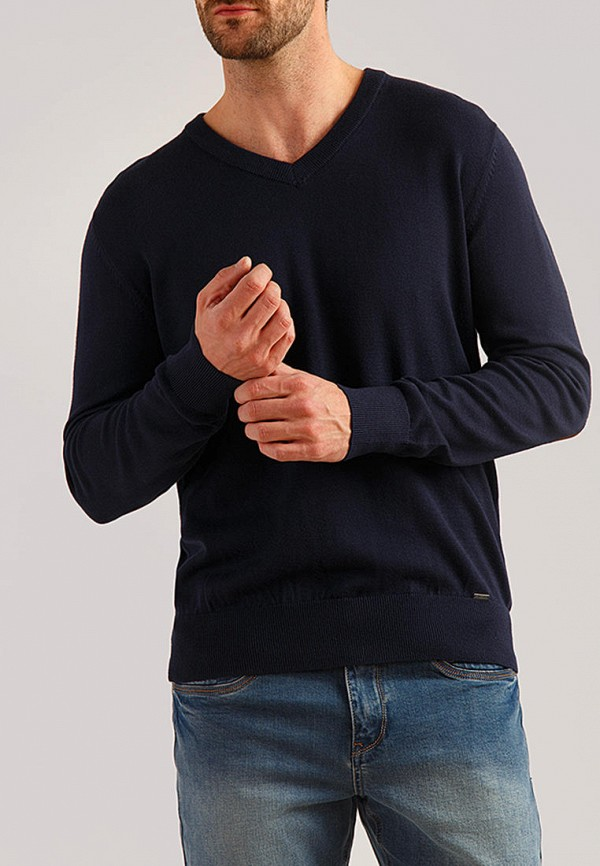 мужской пуловер finn flare, синий