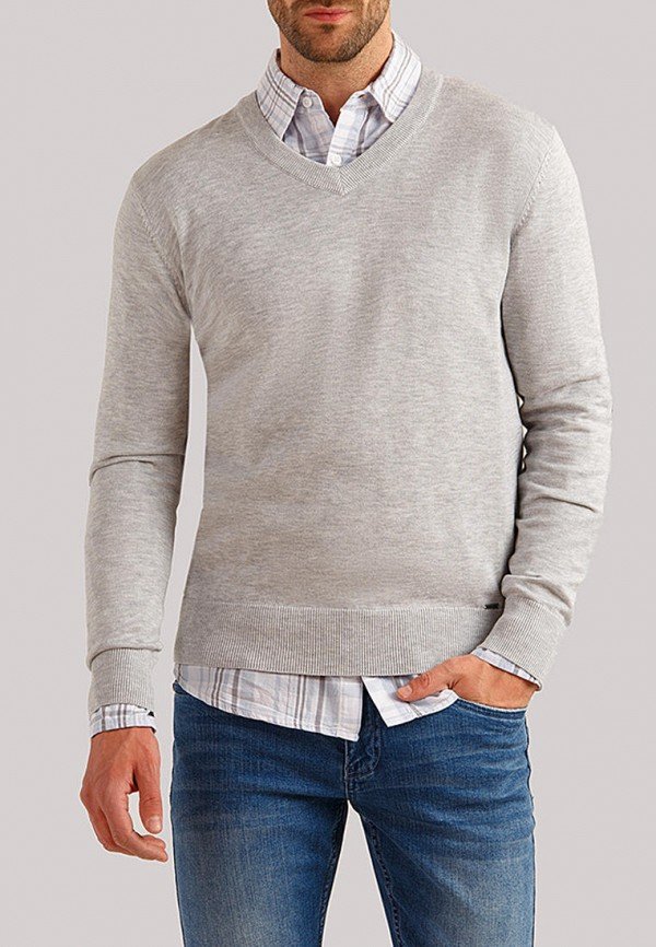 мужской пуловер finn flare, серый