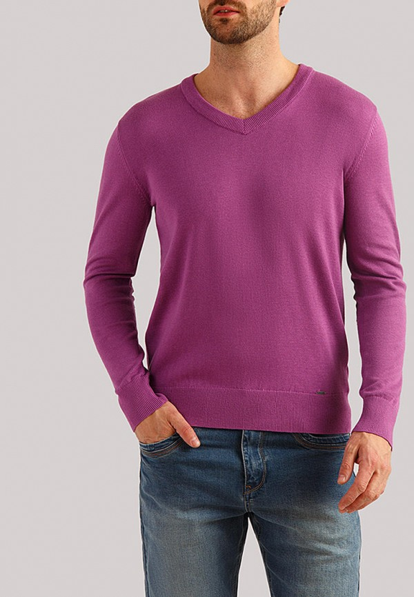 мужской пуловер finn flare, фиолетовый