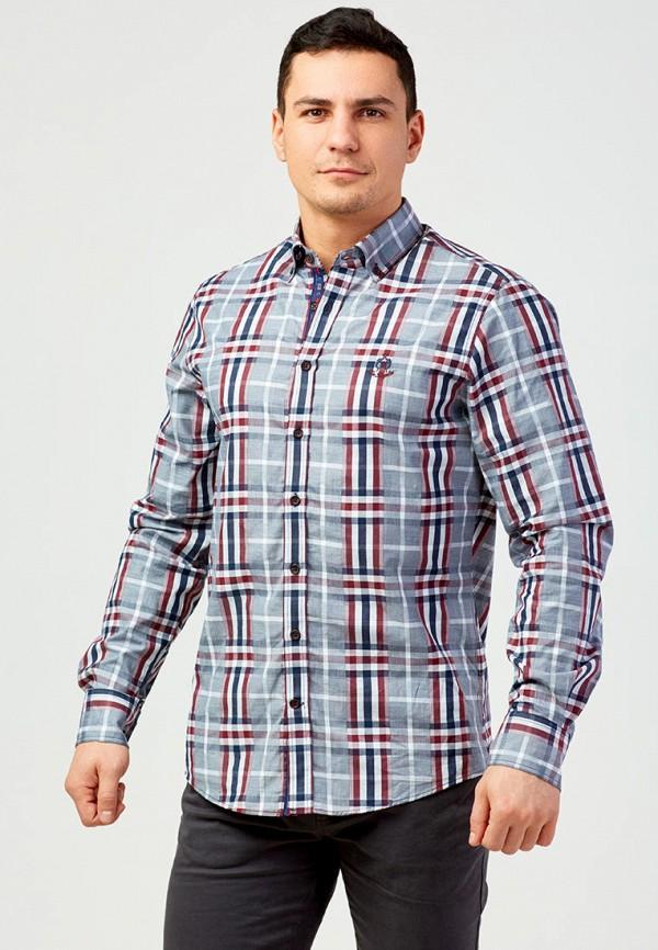 мужская рубашка с длинным рукавом campione, серая