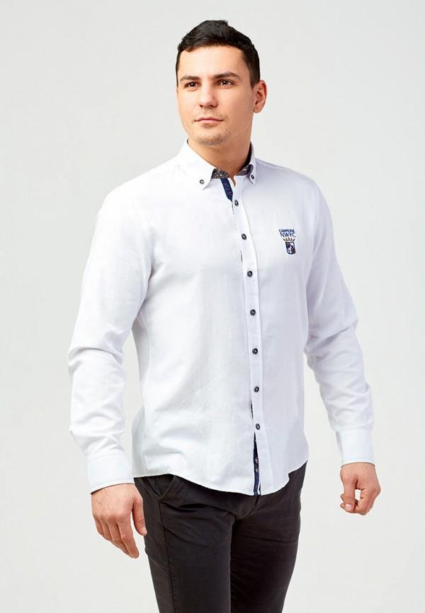 мужская рубашка с длинным рукавом campione, белая