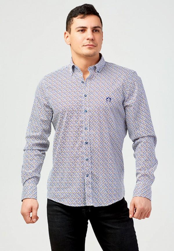 мужская рубашка с длинным рукавом campione, синяя
