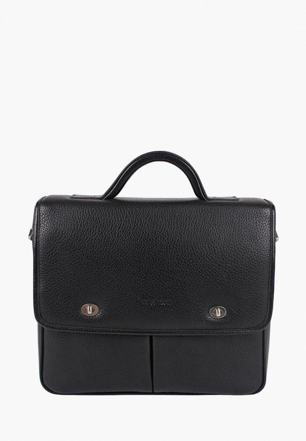 мужской портфель leighton, черный