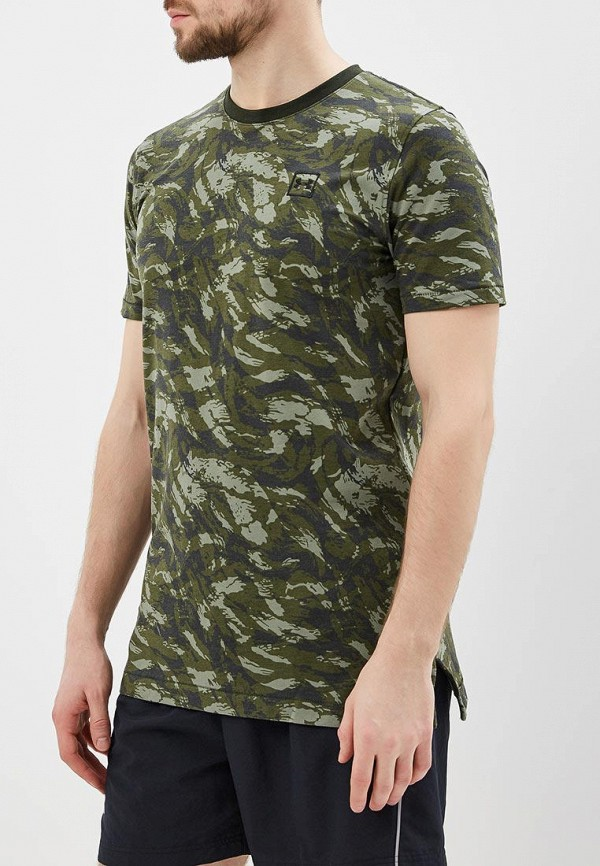 мужская спортивные футболка under armour, зеленая