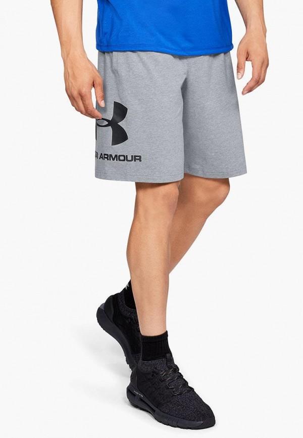 мужские спортивные спортивные шорты under armour, серые