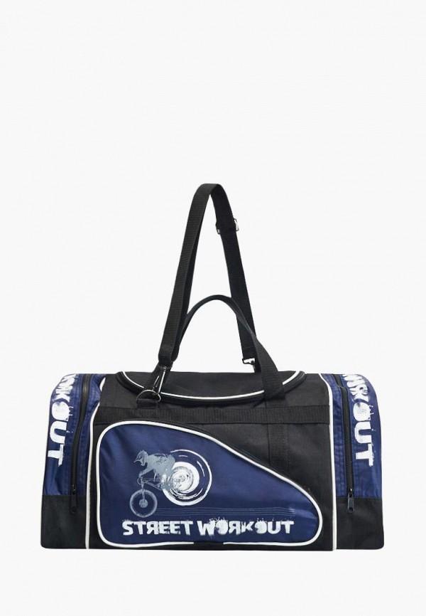 мужская сумка живой шелк, черная