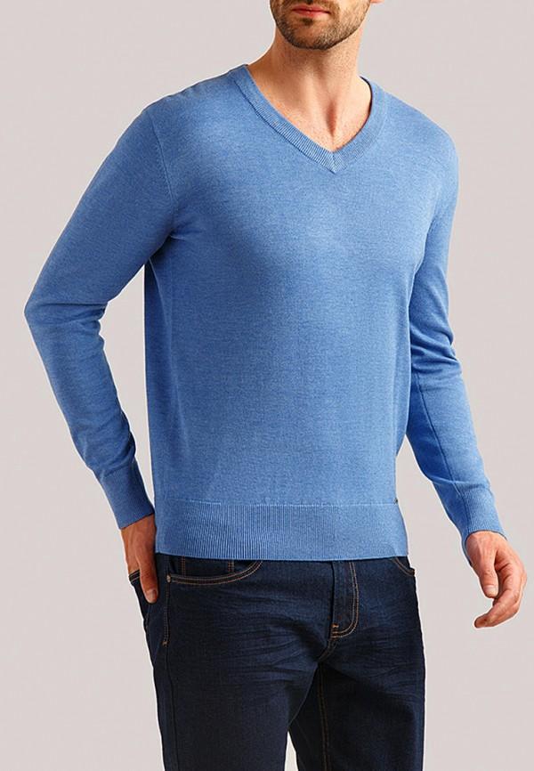 мужской пуловер finn flare, голубой