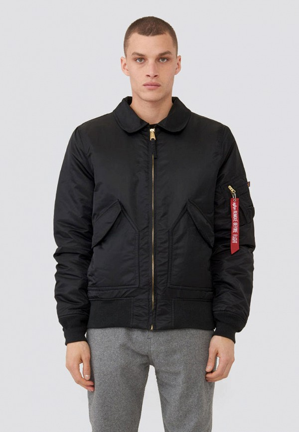 мужская куртка alpha industries, черная