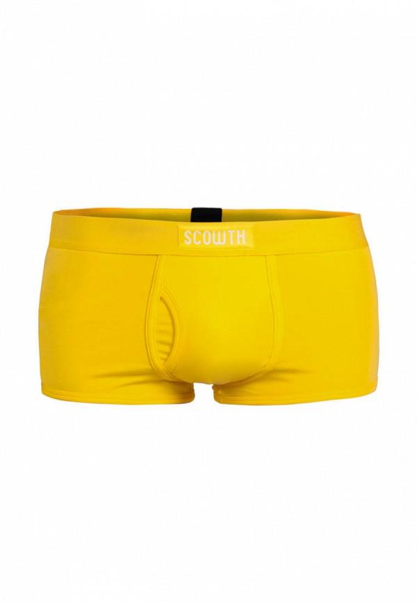 мужские трусы-боксеры scowth, желтые