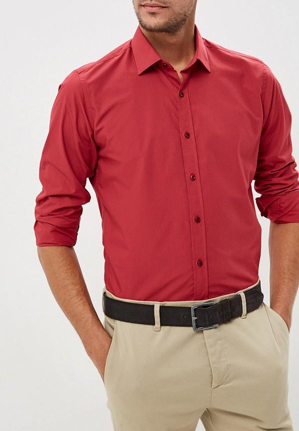 Купить Мужскую рубашку Karflorens бордового цвета